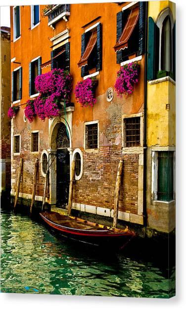 Venice Facade Canvas Print