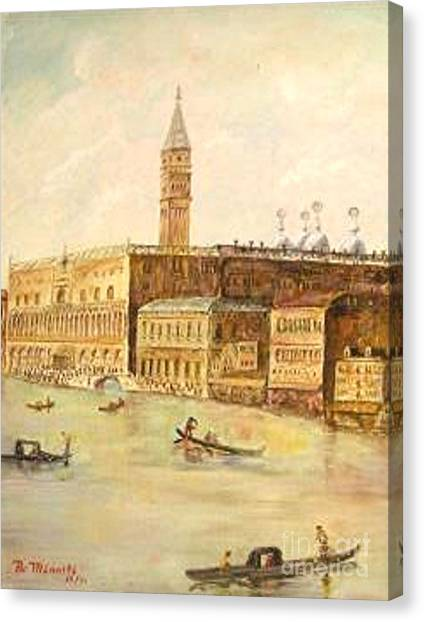 Venice From Grand Canal Canvas Print by Nicholas Minniti