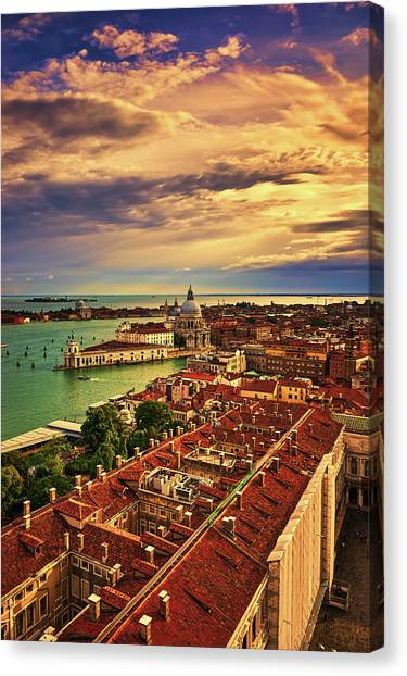 Venice From The Bell Tower Canvas Print