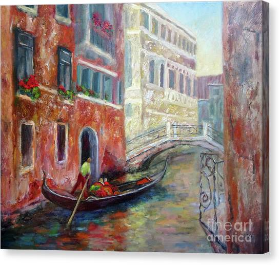 Venice Gondola Ride Canvas Print