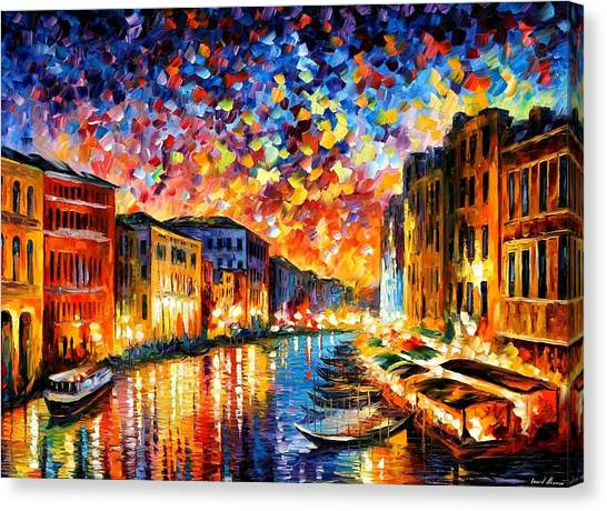 Seascape Canvas Print - Venice - Grand Canal by Leonid Afremov