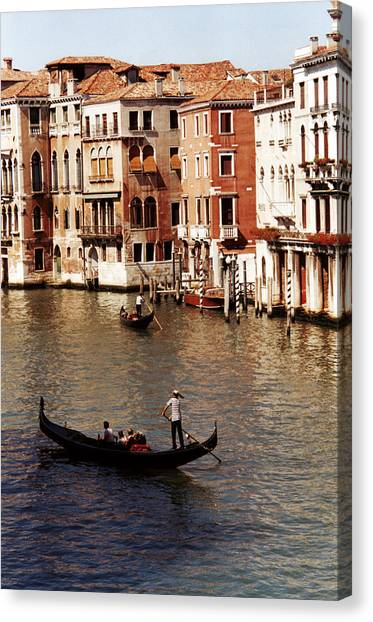 Canvas Print featuring the photograph Venice by Helga Novelli