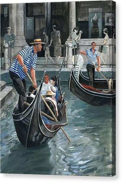 Venice. Il Bacino Orseolo Canvas Print