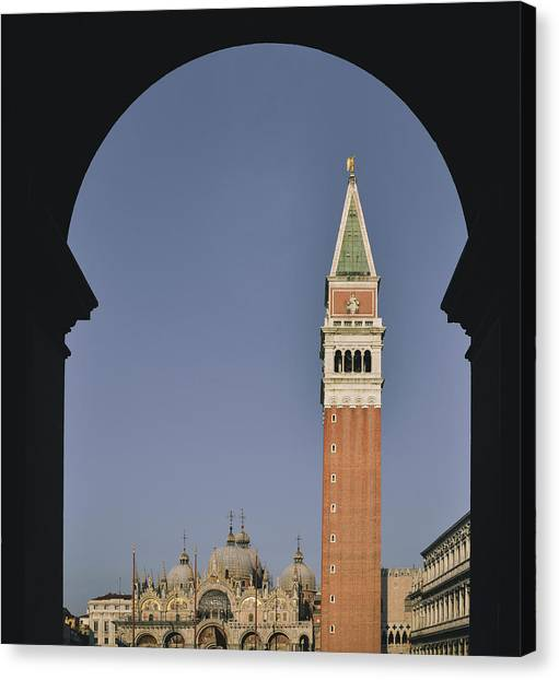Venice In A Frame Canvas Print
