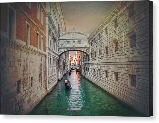 San Marco Canvas Print - Venice Italy Bridge Of Sighs  by Carol Japp