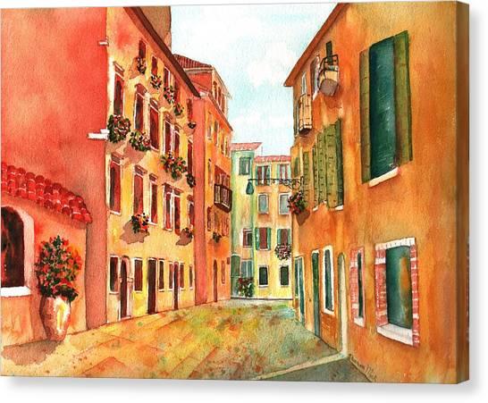 Venice Italy Street Canvas Print