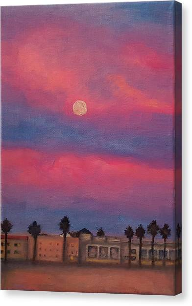 Venice Moonrise Canvas Print by Pia Tohveri