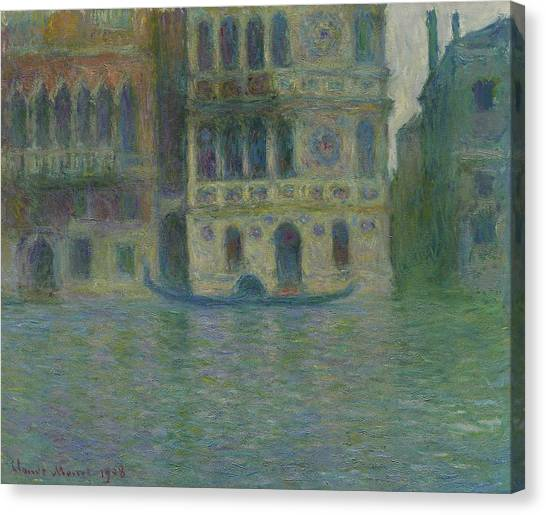 Murky Canvas Print - Venice, Palazzo Dario by Claude Monet