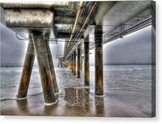 Venice Pier Industrial Canvas Print