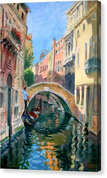 Italy Canvas Print - Venice Ponte Widmann by Ylli Haruni