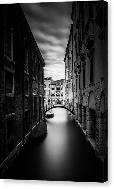 Venice Residential Canal Canvas Print by Andrew Soundarajan