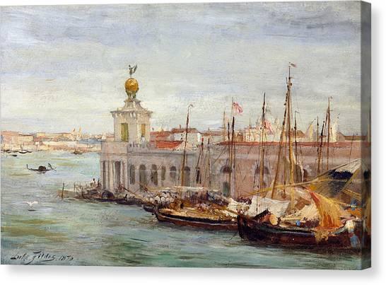 1876 Canvas Print - Venice by Sir Samuel Luke Fields