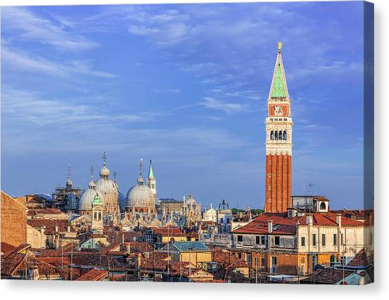 Rennaissance Art Canvas Print - Venice Skyline by Andrew Soundarajan