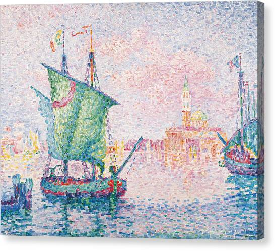 Divisionism Canvas Print - Venice, The Pink Cloud by Paul Signac