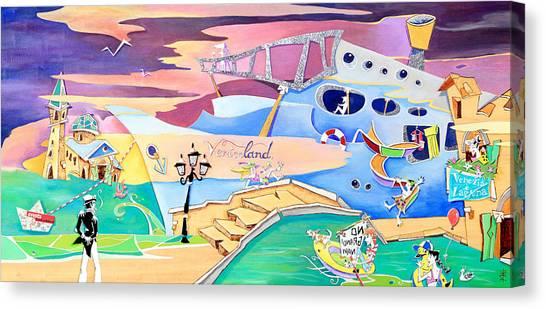Veniceland - No Grandi Navi - Venezia E Laguna Canvas Print by Arte Venezia
