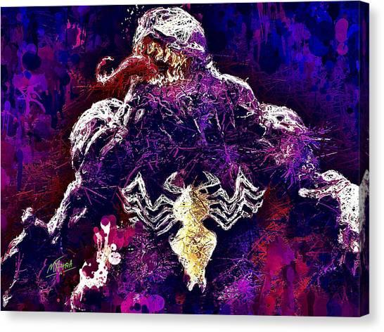 Canvas Print featuring the mixed media Venom by Al Matra