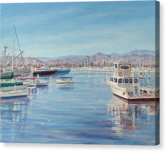 Ventura Harbor II Canvas Print by Tina Obrien