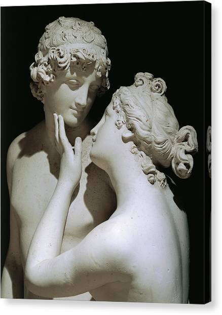 Venus Canvas Print - Venus And Adonis by Antonio Canova