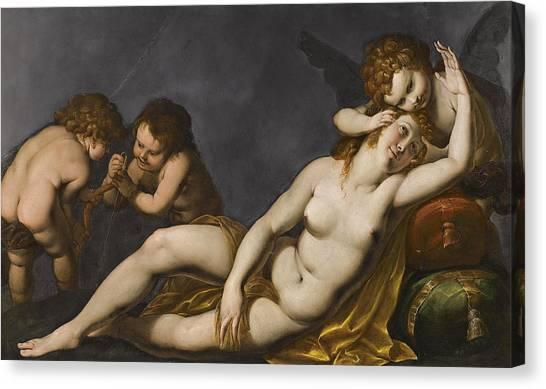 Procaccini Canvas Print - Venus And Cupids by Giulio Cesare Procaccini