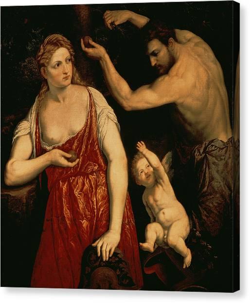 God Of War Canvas Print - Venus And Mars by Paris Bordone