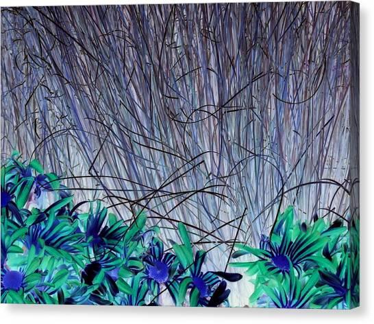 Venus Blue Botanical Canvas Print
