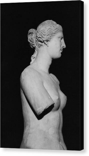 Hellenistic Art Canvas Print - Venus De Milo by Greek School