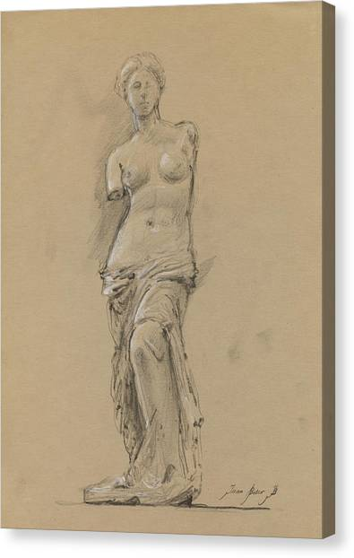 Venus Canvas Print - Venus De Milo by Juan Bosco