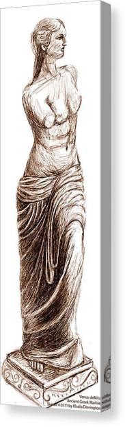 Venus Demilo Canvas Print by Khaila Derrington