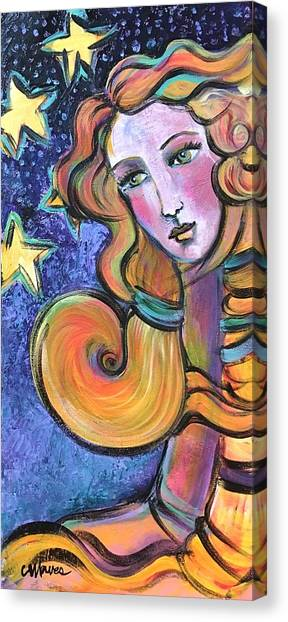 Canvas Print featuring the painting Venus Of Barbosso  by Laurie Maves ART