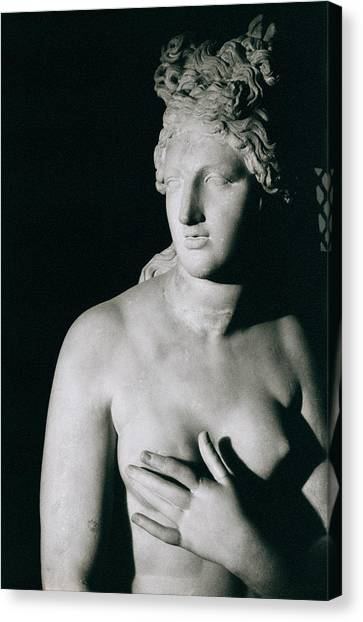 Venus Canvas Print - Venus Pudica  by Unknown