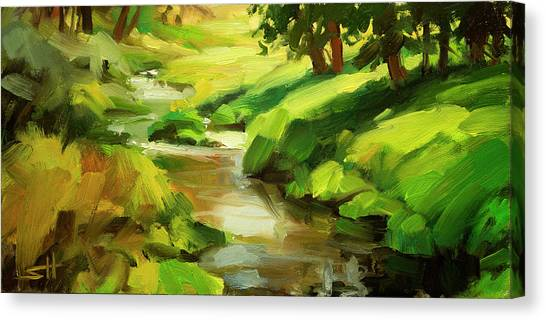 Brook Canvas Print - Verdant Banks by Steve Henderson