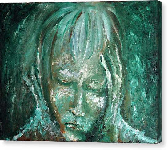 Canvas Print featuring the painting Verdant by Keith A Link