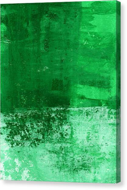 Verde Canvas Print - Verde-  Contemporary Abstract Art by Linda Woods