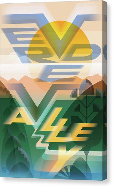 Verde Canvas Print - Verde Valley Poster by Garth Glazier