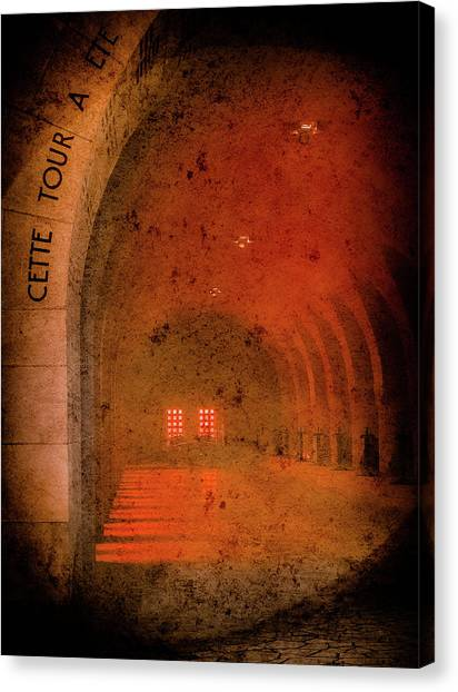 Canvas Print featuring the photograph Verdun, France - Ossuary Hall by Mark Forte