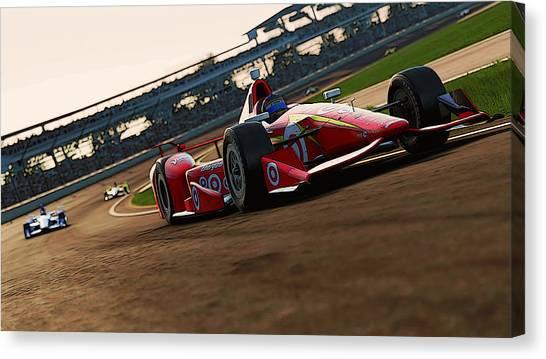 Verizon Indycar Series - 2 Canvas Print by Andrea Mazzocchetti