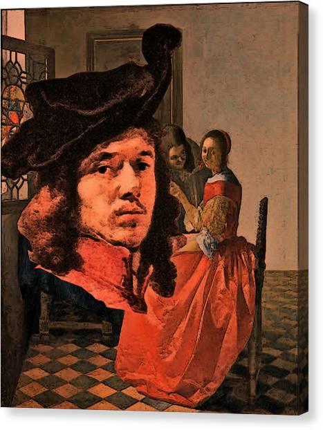 Vermeer Study In Orange Canvas Print