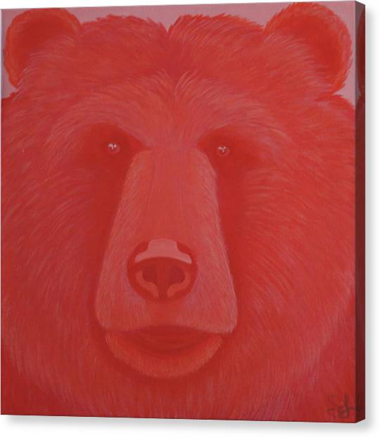 Vermillion Bear Canvas Print