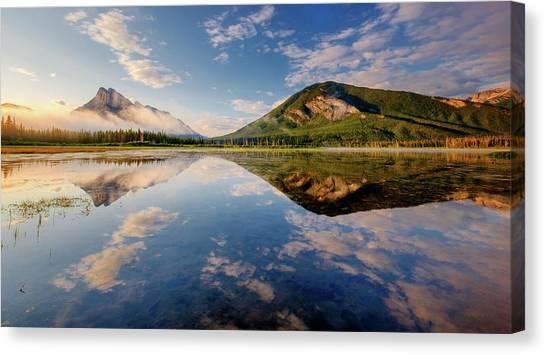 Vermilion Reflections Canvas Print