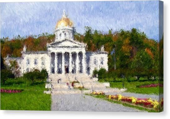 Vermont Capital Canvas Print by Ralph Liebstein