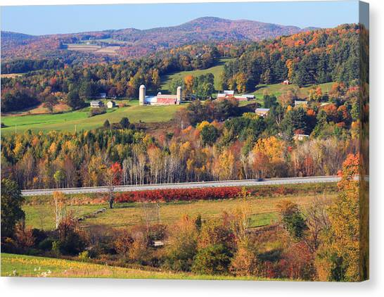 Vermont Canvas Print - Vermont Countryside View Pownal by John Burk