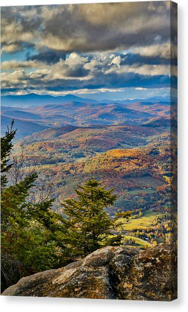 Vermont Foliage From Mt. Ascutney Canvas Print