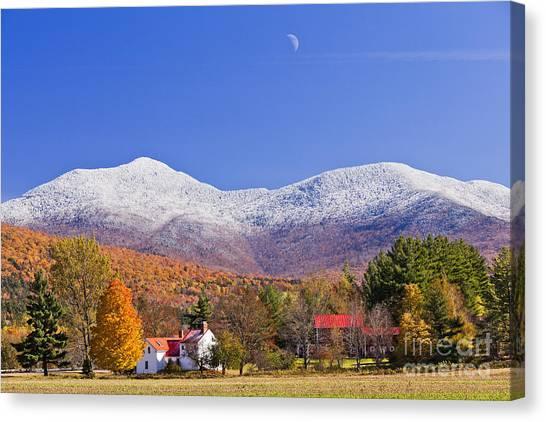 Vermont October Moonrise Canvas Print