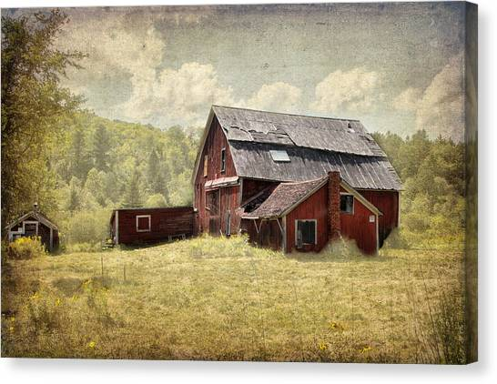 Vermont Red Barn  Canvas Print