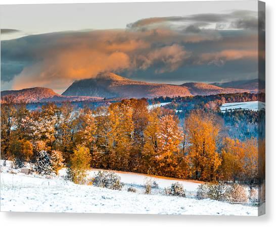 Vermont Snowliage Scene Canvas Print