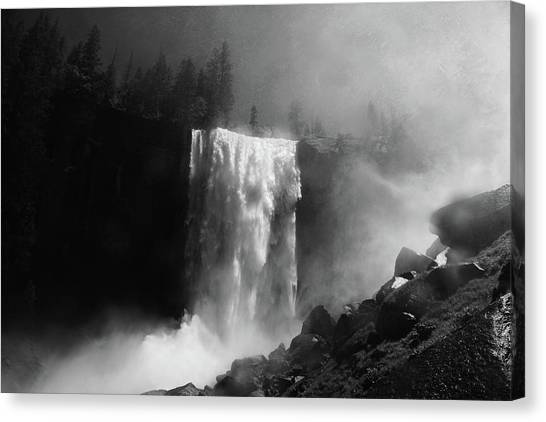 Vernal Fall And Mist Trail Canvas Print