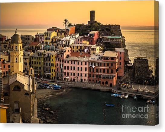 Vernazza At Sunset Canvas Print