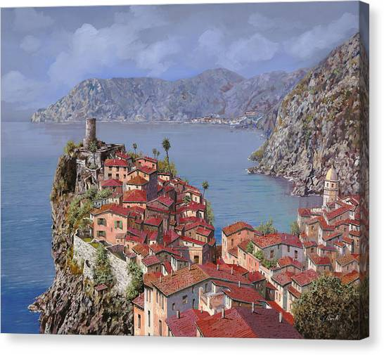 Villages Canvas Print - Vernazza-cinque Terre by Guido Borelli