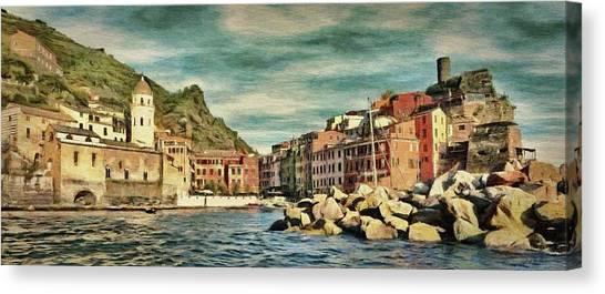 World Heritage Canvas Print - Vernazza by Jeffrey Kolker