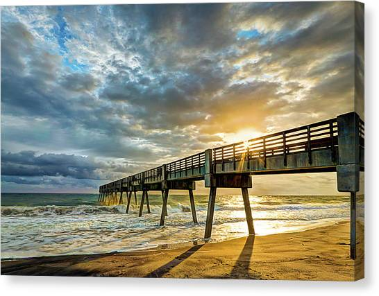 Vero Beach Pier Summertime Canvas Print